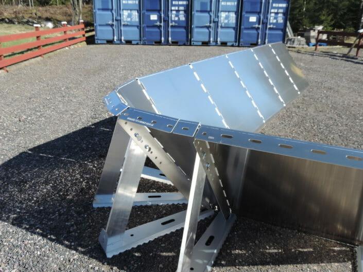 Sistema antialluvione in alluminio