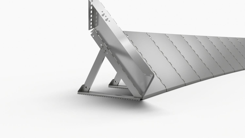 Sistemi anti ruscellamento con struttura in alluminio