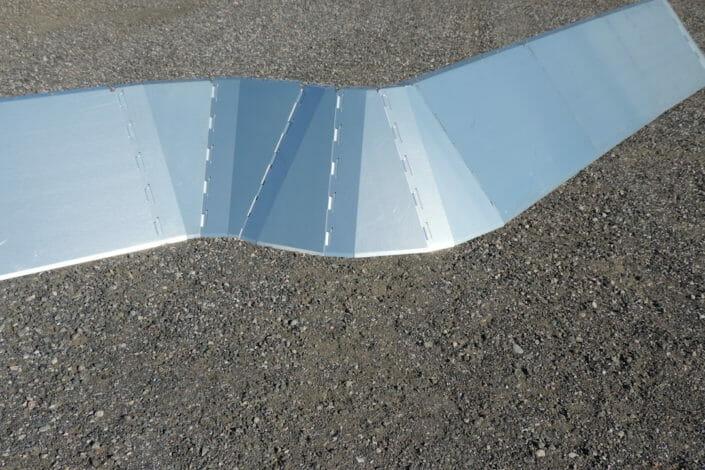 Pannelli in alluminio accostabili antiruscellamento