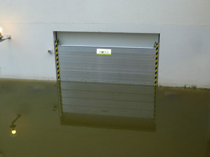 Test protezione acqua barriere Modul